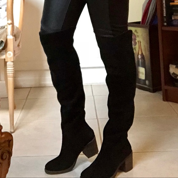 7160461e959 Lucky brand Rayla Over knee boots 7 Black suede